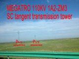 Башня передачи тангенса Sc Megatro 110kv 1A2-Zm3