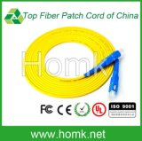 Cordon de raccordement à fibre de mode mono Sc