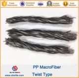 Polipropileno PP Fibra de fibra Twist Smilar Forta Ferro Macrofibra Macrofibra