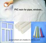 Rendimento elevato, resina poco costosa del PVC del grado Sg-5 del tubo di prezzi