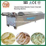 Pommes-Friteszeile industrieller Dampf-Bleicher-Pommes-Fritesriemen-bleichende Maschine
