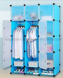 거실 옷장 내각 판매, 옷 걸이 폴란드 의 싼 접히는 PP 위원회 DIY 침실 옷장 (EP-14)를 가진 플라스틱 옷장