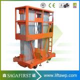 6m a 14m Empurre a elevação vertical da liga de alumínio vertical
