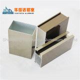Profil en aluminium de couleur d'or/profil électrophorétique d'aluminium de peinture