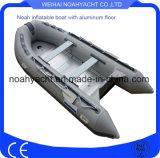 Barco de pesca inflable del suelo de aluminio hecho en fábrica para la venta