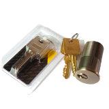 Tür-Befestigungsteil-amerikanische Art-Messingverschluss-Zylinder mit 5 Schlüsseln