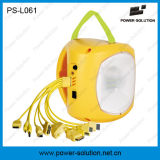 Lâmpada de lanterna solar recarregável de plástico amarelo portátil para o Zimbabwe com carregador de telefone