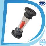 Carré acrylique Ajustement du débitmètre du gaz / air / oxygène avec vanne Bonne rotamètre