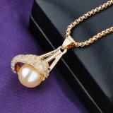 De elegante Saoedi-arabische Arabische Gouden Bijkomende Halsband van de Parel van de Parel