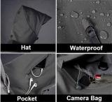 Cappotti impermeabili di campeggio di Hoodie del rivestimento esterno di caccia degli uomini