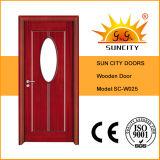 中国の楕円形のガラス浴室の木のドア(SC-W025)