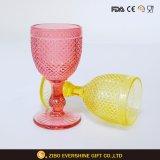明確なガラス瓶のStemwareの赤ワインガラスのコップ