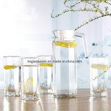 En verre clair de forme octogonale Drinkware défini