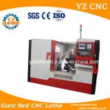 Top1 제조자에 의하여 진행되는 디자인 싼 기우는 침대 CNC 선반 가격