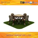 تلميذ في الابتدائي طاولة خشبيّة مع [ستينلسّ ستيل] طاولة ساق ([إيفب-030])