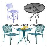Tableau extérieur et présidences ronds en métal de patio réglés