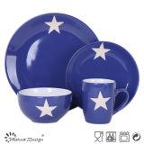 Insieme di pranzo di ceramica di disegno della stella
