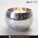 球形の水星の割れたガラス蝋燭ホールダー