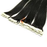 卸し売り黒いインドのRemyテープ人間の毛髪の拡張