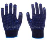 Двойной ПВХ точек защиты труда промышленной безопасности работы хлопок перчатки