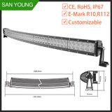 50 barre tous terrains d'éclairage LED de CREE de barre d'éclairage LED incurvée de pouce par 288W