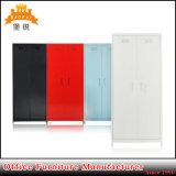 Coloré des armoires métalliques à deux portes de pivotement