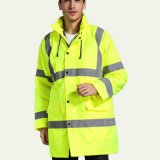 Windbreaker OEM listas reflectoras vestuário de trabalho e a segurança do tráfego jaqueta com capuz casaco de Inverno