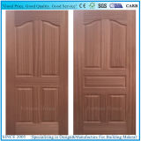Cherry moulé/EV placage de bois de teck HDF Peau de porte