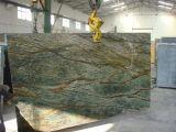 Marmo di marmo di verde della foresta pluviale della Tabella del travertino dei lastricati di pietra naturali del raggruppamento