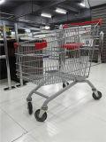 쇼핑 카트가 대중적인 유럽 유형에 의하여 슈퍼마켓 농담을 한다