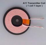 bobina sin hilos de la energía, bobina de carga sin hilos, bobina de Qi