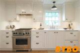 Mobília branca lustrosa elevada moderna da cozinha da laca (BY-L-161)