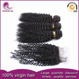 Cierre de llaves y tejer Remy indio brasileño cabello virgen peruana