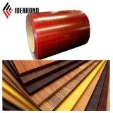 Le hêtre rouge d'Ideabond a enduit la bobine d'une première couche de peinture en aluminium (AE-302)