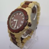 Reloj de manera de madera natural puro