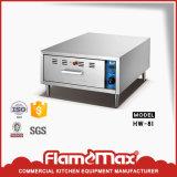 Scaldavivande caldo di vendita 2-Drawer dell'acciaio inossidabile per i panini (HW-82)