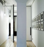 Portes intérieures de chambre à coucher, conception en verre en bois de porte, entrées principales en bois modernes