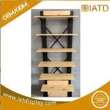 Schioccare il banco di mostra d'attaccatura di legno in su girante per la scarpa da tennis/l'usura/sacchetto di sport