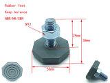 Los pies de goma con el tornillo y el tornillo del producto de la arandela de goma de la Pierna de nivelación de los pies de goma