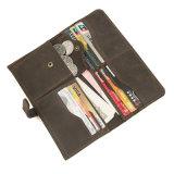 Конструкция Customzied темно коричневых Crazy Horse кредитных карт кожаный кошелек в карман для мелочи