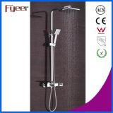 Fyeer 2016 Nueva LED grifo de la cascada de lluvia de baño y ducha conjunto