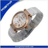 De hoogste Kwaliteit nam Gouden Horloge voor Vrouwen met Stenen toe