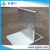 Barrières de contrôle des piétons Barrières des barres métalliques Barrière de la fougue d'aluminium