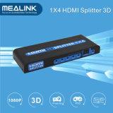 Горячая продажа 3D поддерживает 1 в 4, 1X4 разветвитель HDMI