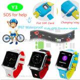 2g/GSM Waterproof o relógio do perseguidor do GPS dos miúdos com Geo-Cerca Y3