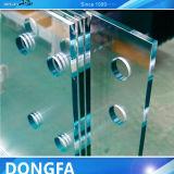 最上質の中国の明確な薄板にされた構築の安全ガラスの習慣のサイズ