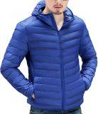 Xiaolv88hommes Packable léger du phoque à capuchon Down Jacket Ultralight hiver manteau Puffer Zip