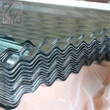 Hoja de acero galvanizada acanalada revestida del material para techos del color primero de la calidad Z275