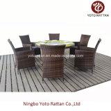 Table ronde de plein air avec 6 chaises (1208)