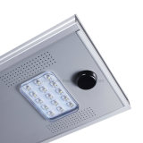 luz de rua solar Integrated do diodo emissor de luz do sensor de movimento 15W IP65
